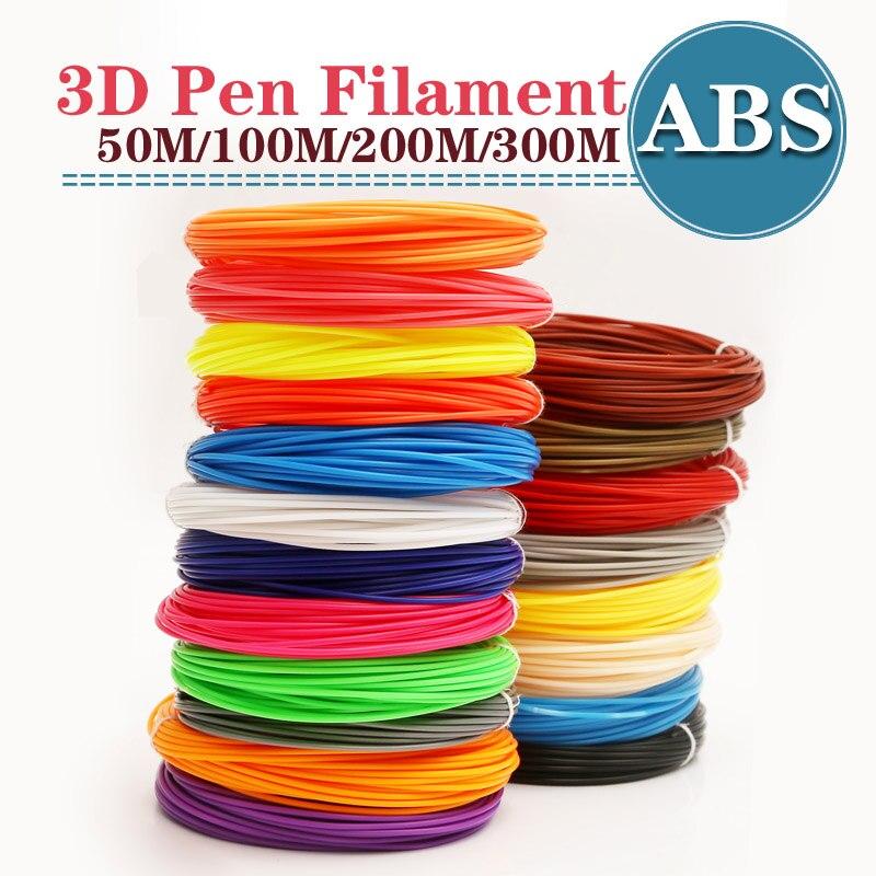 Abs 1.75 Millimetri Filamento 20 Colori 3d Stampato 1.75 Millimetri 3d Penna di Plastica 3d Printer Abs Filament 3d Penne Abs safety100m200m Ambientale