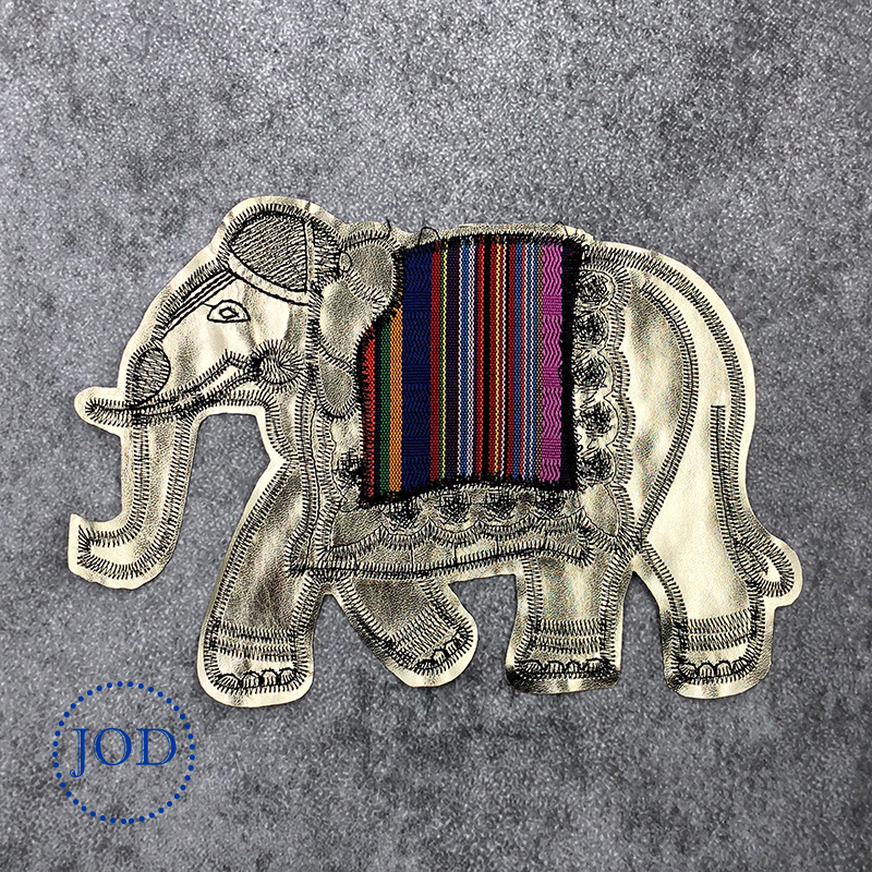 JOD DIY Large Elephant Embroidery Patch Clothes Applique Sew on Decorative Patches for Clothing Stickers Sewing Applications @ locket
