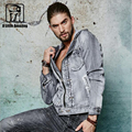 High quality denim jacket men casual hooded men jacket slim men washed jean jacket size:S-XXXL