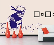 Naruto wall stickers Japanese Cartoon Naruto Mural Art Wall Decal Wall covering Kids Room Bedroom home decoration