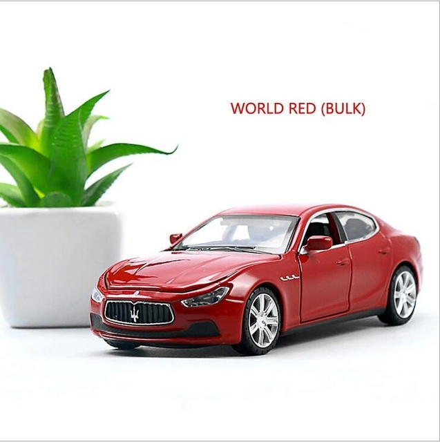 Maserati Car Models 1:32 Alloy Pull Buck Diecast Car Model Toy Vehicles