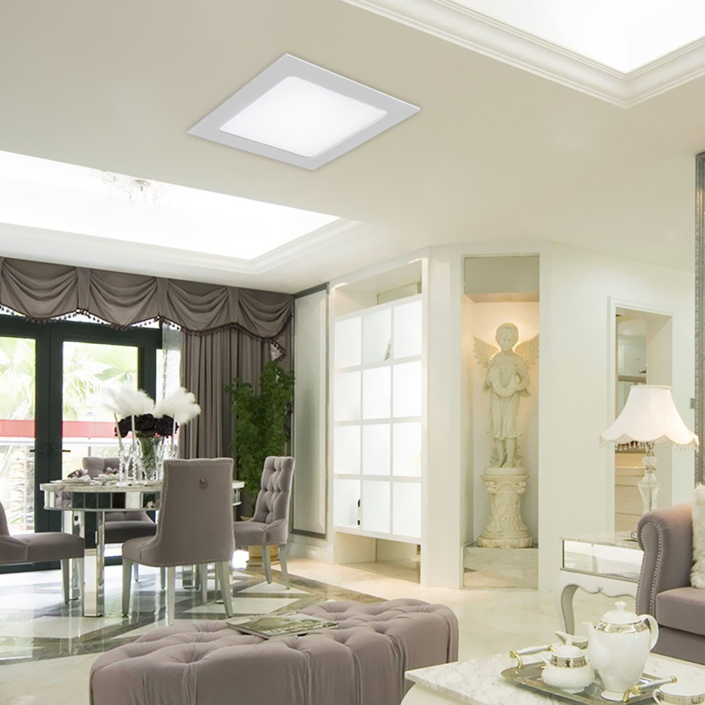 Recessed Panel Living Room Interior: Ultra Thin 6W Recessed Ceiling Panel Lamp Down Light