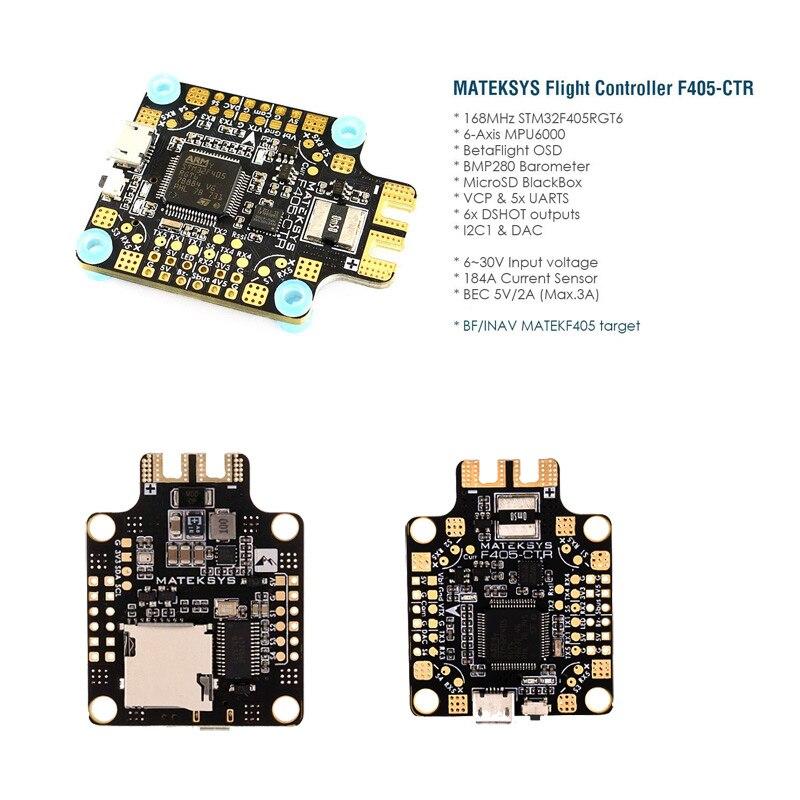 Matek BetaFlight F405 CTR kontroler lotu wbudowany we wstępnym projekcie budżetu OSD 5 V/2A BEC czujnik prądu dla RC Eachine X220 250 Racing drone w Części i akcesoria od Zabawki i hobby na AliExpress - 11.11_Double 11Singles' Day 1