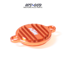 Orange CNC Billet Engine Oil Filter Cover Cap For KTM 250 350 450 505 SXF 450SMR 350 EXCF 200 450 530 EXC 350 SX SXF EXC EXF SMR