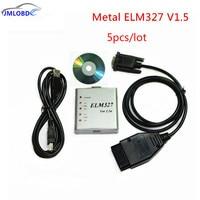 5pcs Lot 2018 ELM327 USB Metal V1 5a ELM 327 Metal CAN BUS Interface Code Scanner