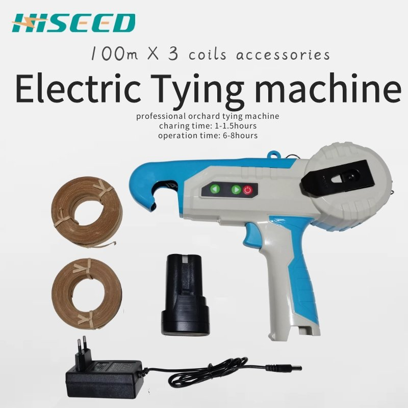 Electric tapetool lithium battery powered electric tying machine ( 6-8 hours working)