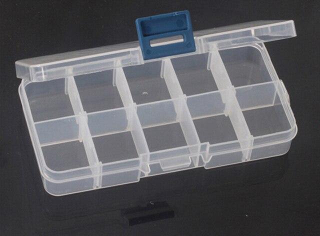 新しいプラスチック10グリッド透明ジュエリーネックレス収納ボックスケースカバーホルダークラフトオーガナイザーコンテナアクセサリー