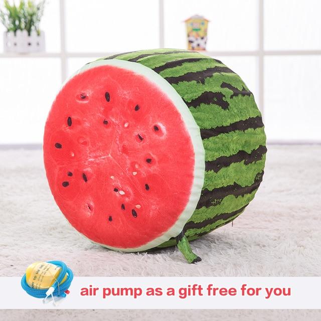 Новые надувные 3D фрукты плюшевые печати подушки Подушка игрушка Офис Диван украшения подушки сиденья Лучший подарок