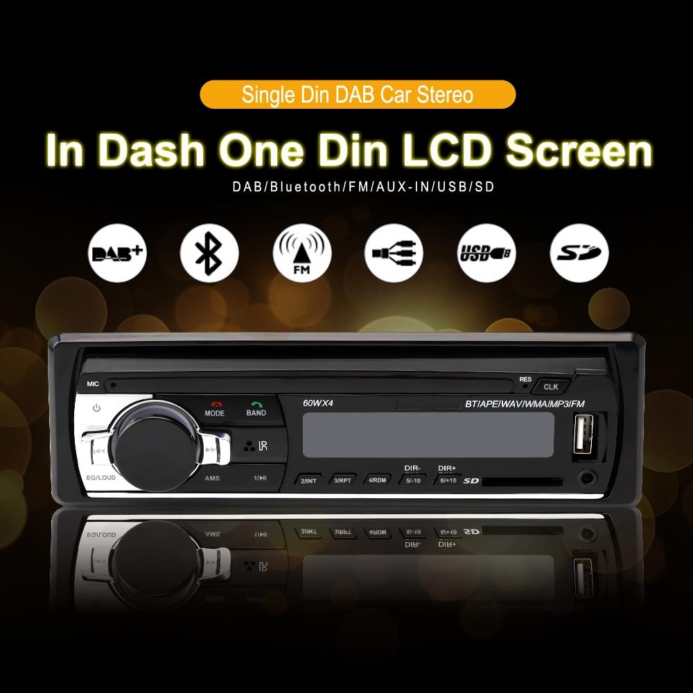 1 DIN Bluetooth DAB Car Radio Bluetooth MP3 USB Cat Stereo FM USB AUX Audio Auto Electronics car audio player autoradio 12V автокомплект bluetooth oem bluetooth mp3 fm iphone 5 4s 4 6 12v