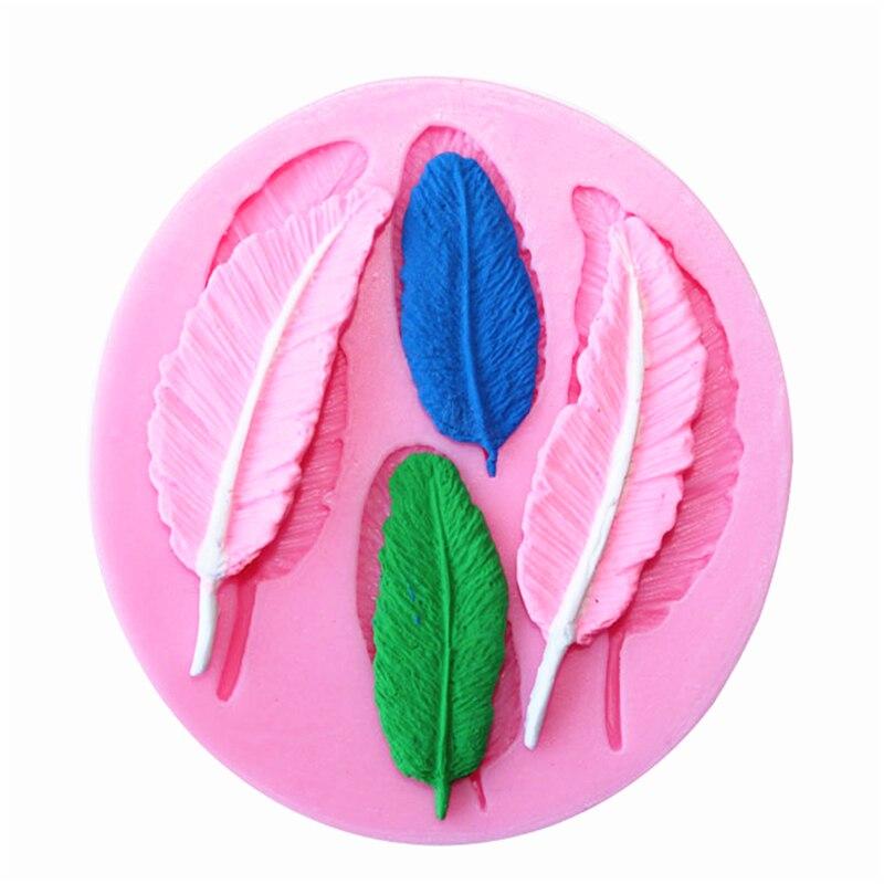 1 ədəd lələk forması kolleksiyası tort kalıp silikon fondant - Mətbəx, yemək otağı və barı - Fotoqrafiya 1