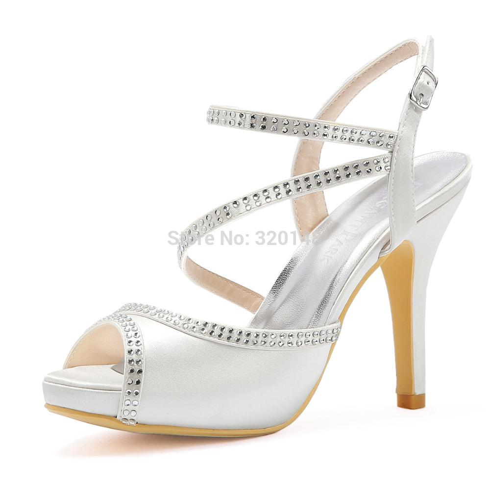 Summer Woman Sandals High Heel White Ivory HP1805I Cross