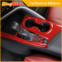 Car Styling Gear Panel Handbrake Covers Decoration For Toyota Camry 2018 Water Cup Holder Frame Cover Trim Accessories