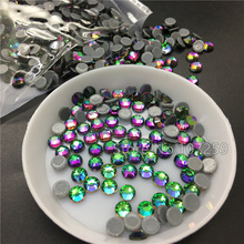 New Volcano Color Hot fix Rhinestones High Quality Heliotrope Blue Sphinx Iron On Rhinestones For Clothes DMC Glass Crystals