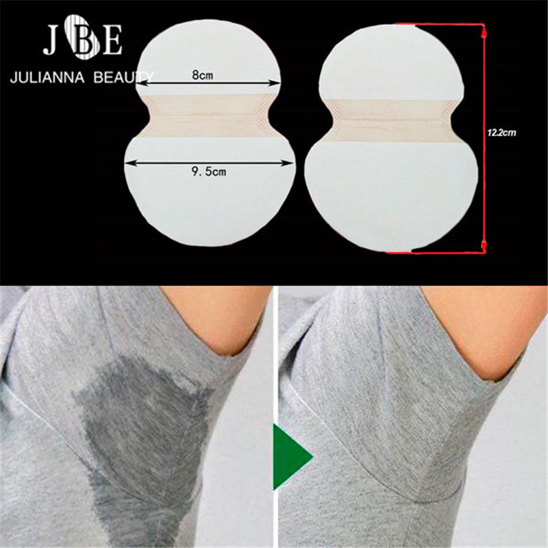 100pcs=50Pairs/lot Underarm Cotton Sweat Pads Disposable Armpits Antiperspirant Unisex Absorbing Deodorant Stickers Guarda Roupa water absorbing oil absorbing cleaning cloth