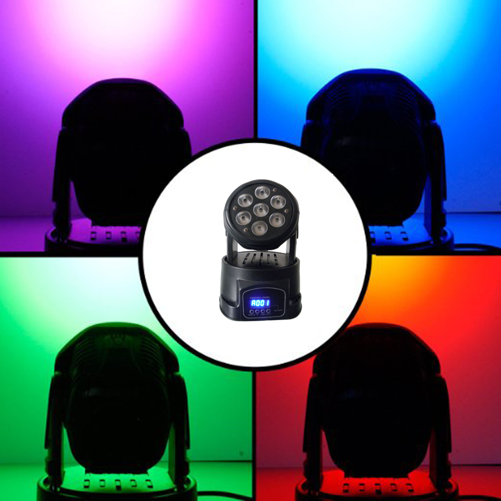 1Pcs/Lot Moving Head LED Wash Stage Lighting 7X10W RGBW 4IN1 Professional DMX512 For Disco DJ Music Party KTV Nightclub Lights1Pcs/Lot Moving Head LED Wash Stage Lighting 7X10W RGBW 4IN1 Professional DMX512 For Disco DJ Music Party KTV Nightclub Lights
