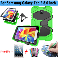 Armor Kickstand Cover For Samsung Galaxy Tab E 8 0 T375 T377 Case Silicone Cover For