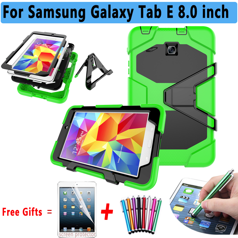 Armor Kickstand Cover For Samsung Galaxy Tab E 8.0 T375 T377 Case Silicone Cover for Samsung Galaxy Tab E 8.0 T377P T377W T377R