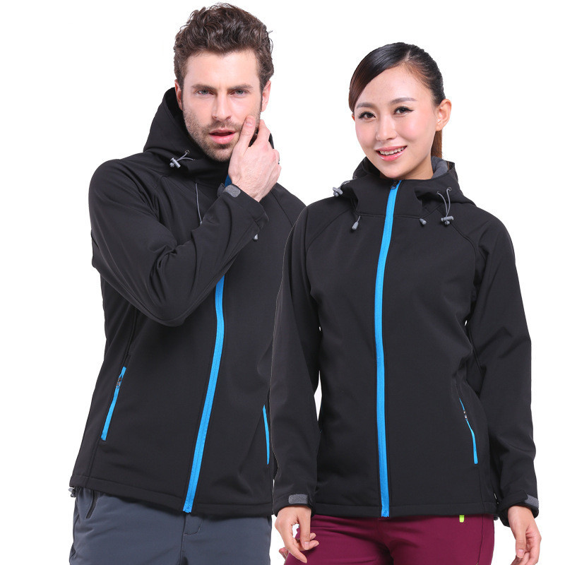 купить lovers Shark skin windblock softshell jacket fleece thermal sports jacket man women unisex winter fishing bike hiking fleece дешево