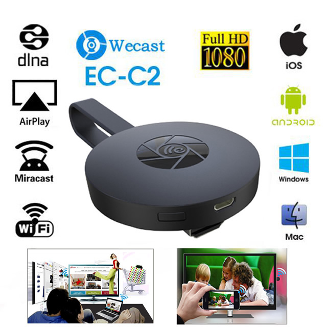 2017 EZCast Digital HDMI Media Video Streamer Wi Fi Display Receiver TV Stick for Android IOS