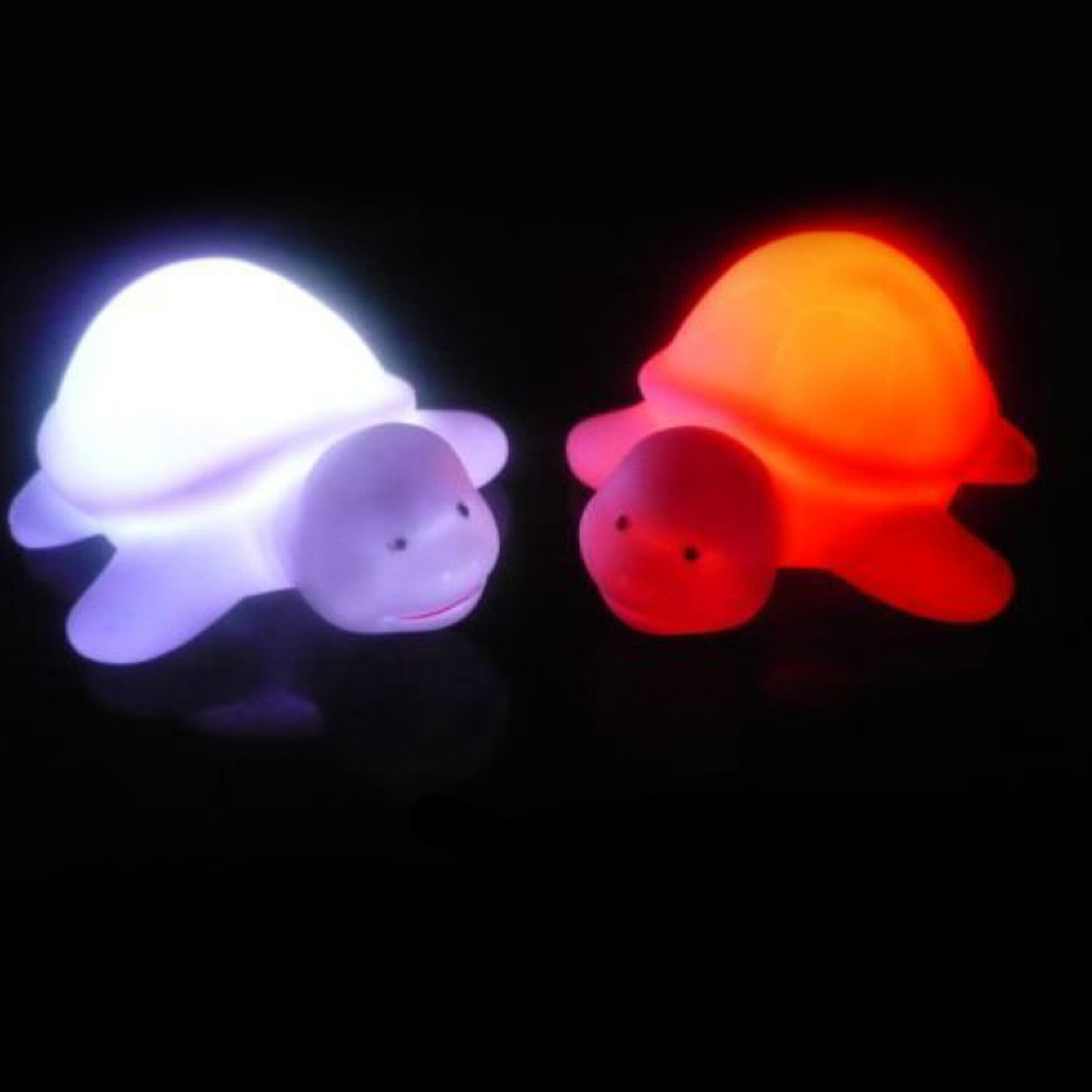 7 Colours Children's Turtle LED Night Light Lamp Party Christmas Decoration Colorful Flashing Lights Toys For Baby
