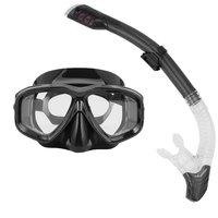 REIZ Professional Diving Masks Goggle Full Dry Silicone Snorkel Tube Set Men Women Diving Swimming Water