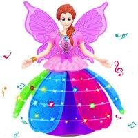Nuovo Anno Kid Fun Regalo del Giocattolo Anti-stress Della Novità Del Giocattolo Dancing Girl Principessa Multifunzionale Bambola di Musica LED Pet Elettronico Robot Adulto