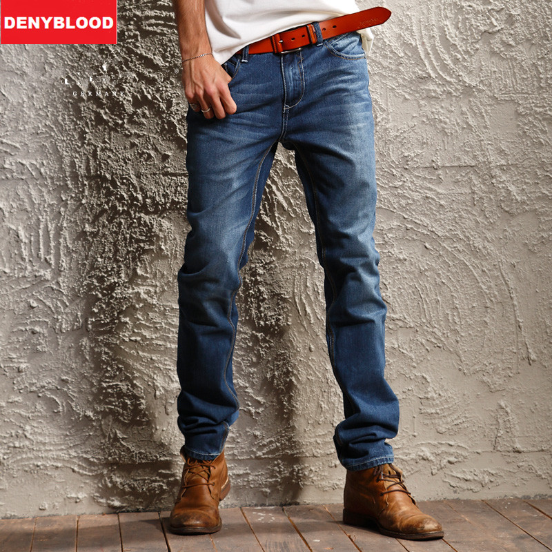 116cm Extra Long Mens Jeans 100% Cotton Denim Slim Straight Jeans 2016 Spring New Arrival High Quality Causal Pants 8987600