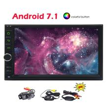 Android 7.1 Car Stereo 2 Din Car Video Player Autoradio Bluetooth GPS Navigator Touch Screen PC Head Unit Wifi Wireless Rear Cam