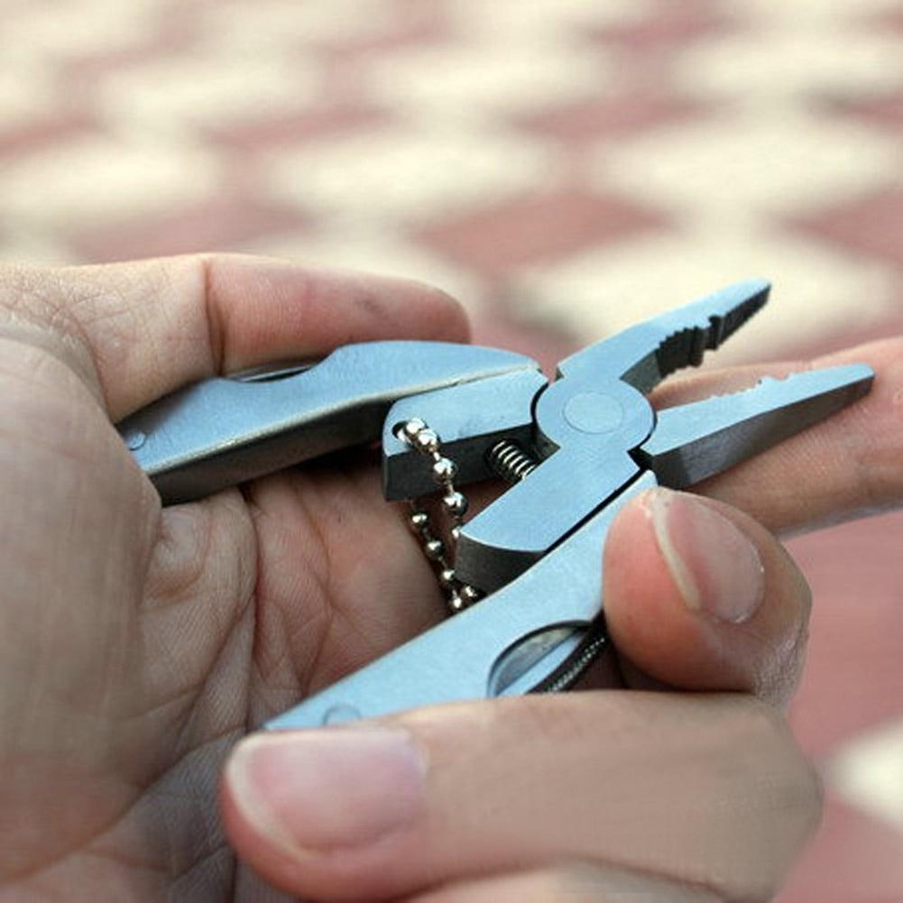 Alicates plegables multifunción Mini llavero de bolsillo plegable de - Herramientas manuales - foto 3