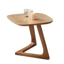 Столы для кафе, кафе мебель для дома, дубовый стол из массивной древесины, журнальный столик basse, минималистичный стол mesas de centro 60*47*43,5 см