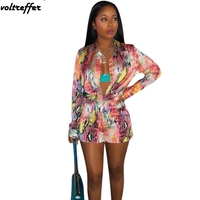 2019 Spring Snake Skin Printed Two Piece Set Cardigan Short Sets For Women Sexy Casual Outfits Bodycon Bodysuit Shorts Costumes