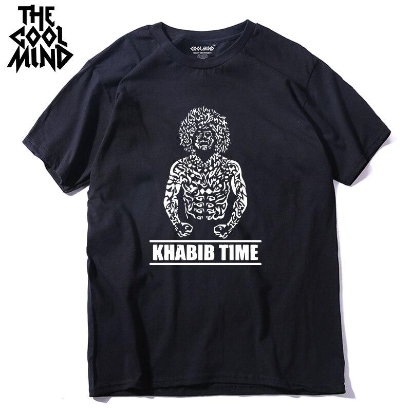 COOLMIND 100% Cotton Cool  Khabib Men T Shirt Casual Short Sleeve Khabib Nurmagomedov Summer Loose Men Tshirt Male Tee Shirts