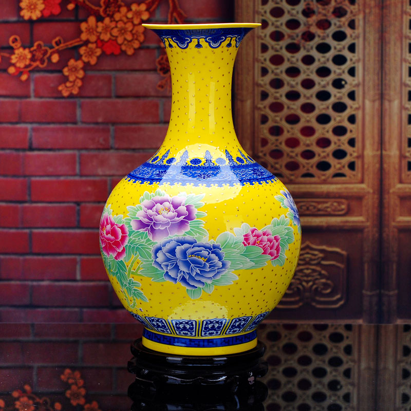 Good Quality Antique Chinese Porcelain Flower Vase Hotel Home Decoration Pot Jingdezhen Porcelain Vase Christmas Gift