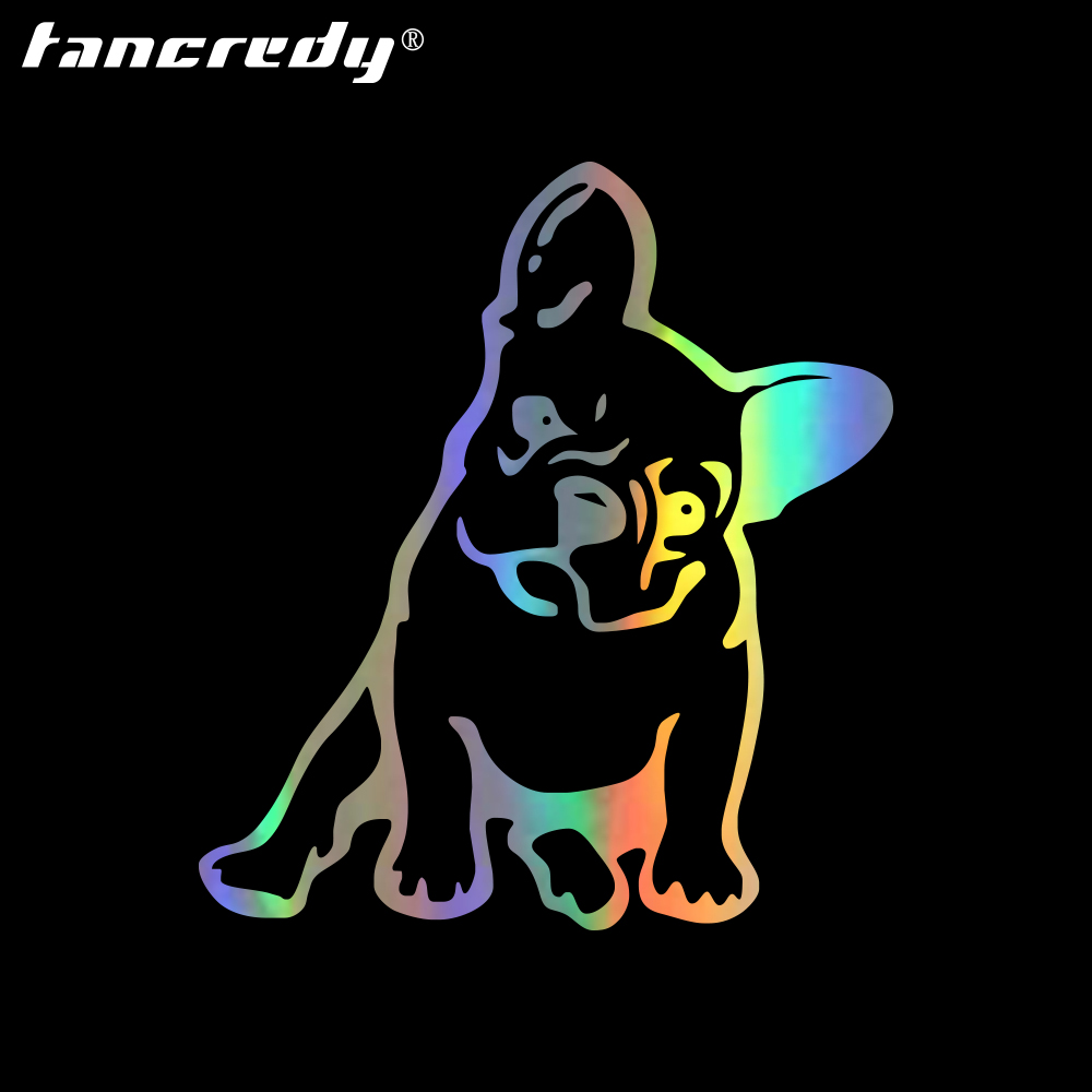 Bulldog Stickers 12*13cm Car Lovely Dog Stickers  Car Styling Stickers Decoration Stickers Car Body Stickers car