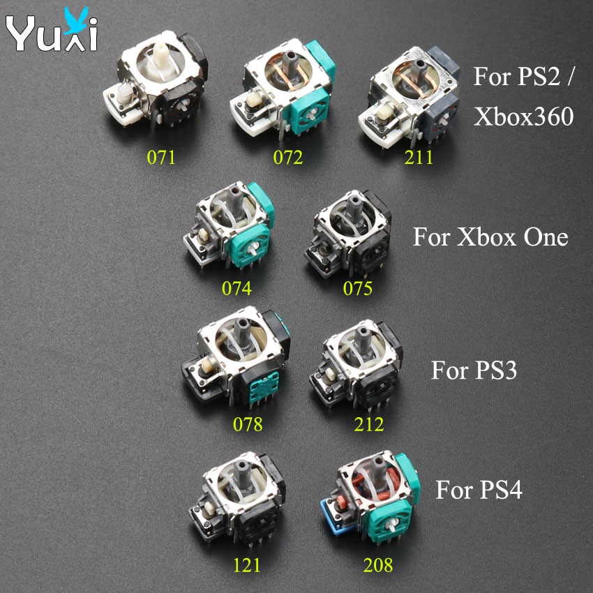 YuXi 2cps Replacement 3D Joystick Analog Grips Stick For PS2 PS3 PS4 Controller Dualshock 2 3 4 For Xbox 360 Xbox One
