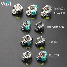 купить YuXi 2cps Replacement 3D joystick analog Grips stick for PS2 PS3 PS4 controller Dualshock 2 3 4 For Xbox 360 Xbox One дешево