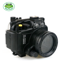 For Sony NEX 5R 5T 16-50mm Lens Camera Waterproof Housing Photography Case Underwater Camera Cover + Scuba Diving Glasses Meikon pixco lens adapter ring suit for canon ef e os to sony nex a5100 a6000 a5000 a3000 5t 3n 6 5r f3 7 5n 5c c3 3 5