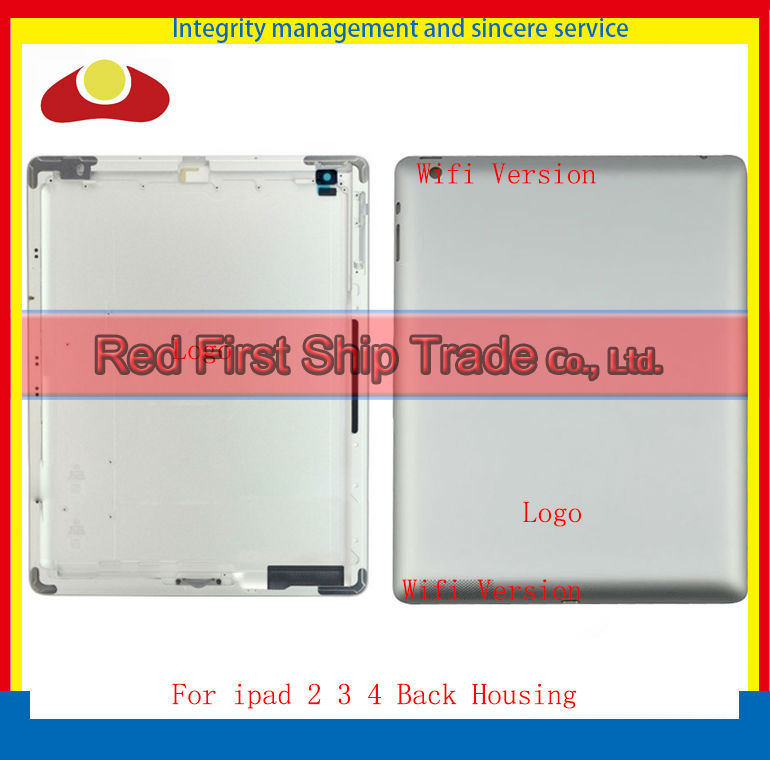 5Pcs IMEI Original For New iPad 2 ipad 3 ipad 4 Wifi or 3G Version Back housing Back Cover Rear Case 64GB 32GB 16GB With Logo
