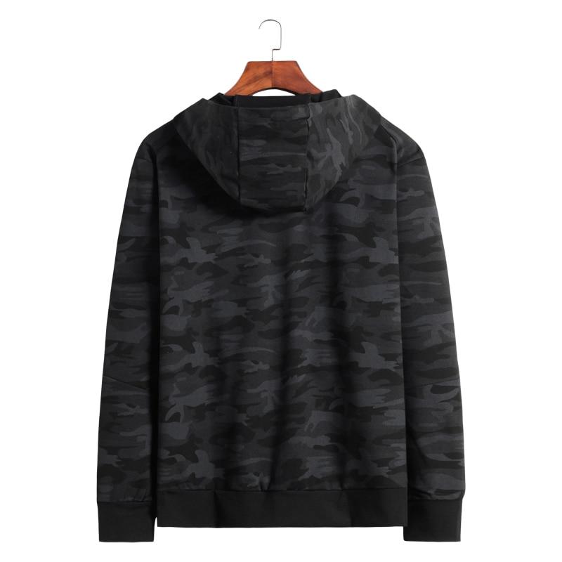 10XL 8XL 6XL 2018 Printemps Automne Hommes décontracté sweater à capuche camouflage Veste Homme Coupe Vent Vêtements Hommes Coupe Vent Manteau vêtements pour hommes - 2