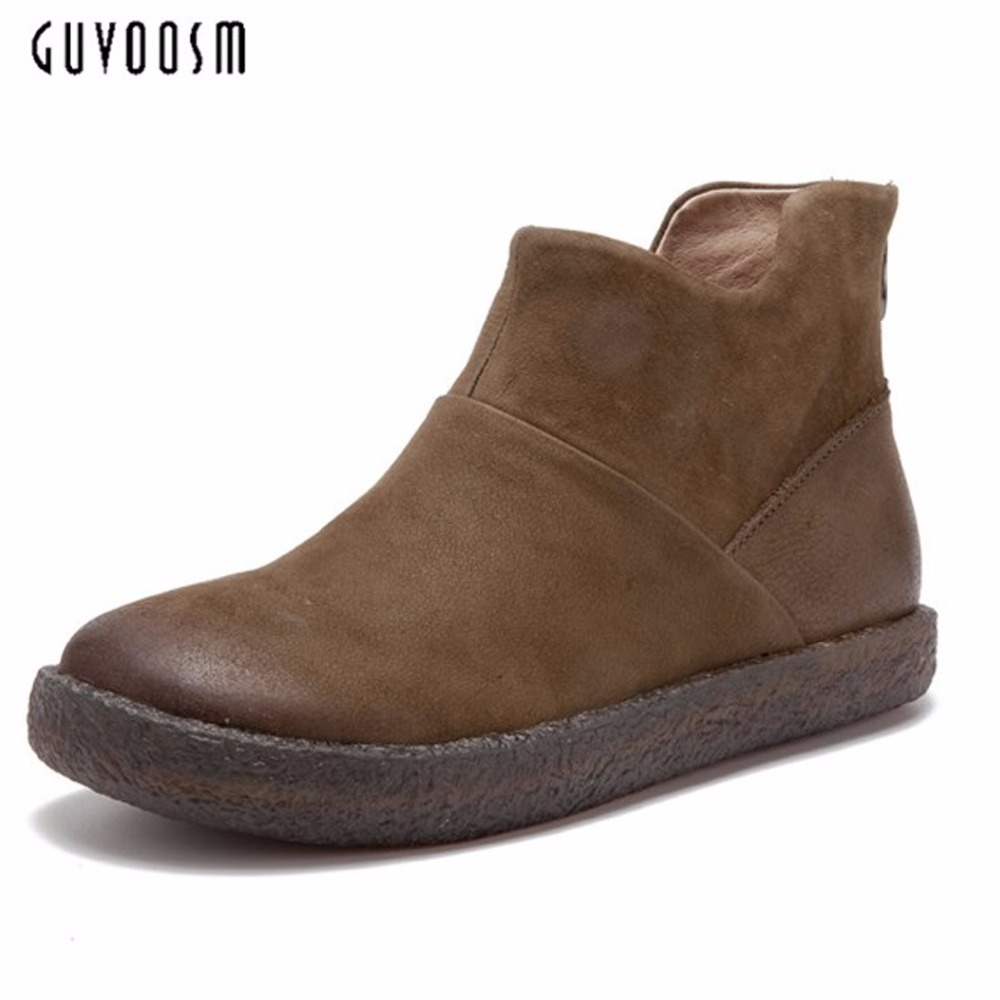 Guvsoom Snow Boots Women 100% Genuine Leather Handmade Riding Equestrian Bota Feminina Winter Zapatos Mujer Natural Shoes Woman high efficiency can be customized 300w switching power supply s 350 7 5 40a low price low ripple noise good