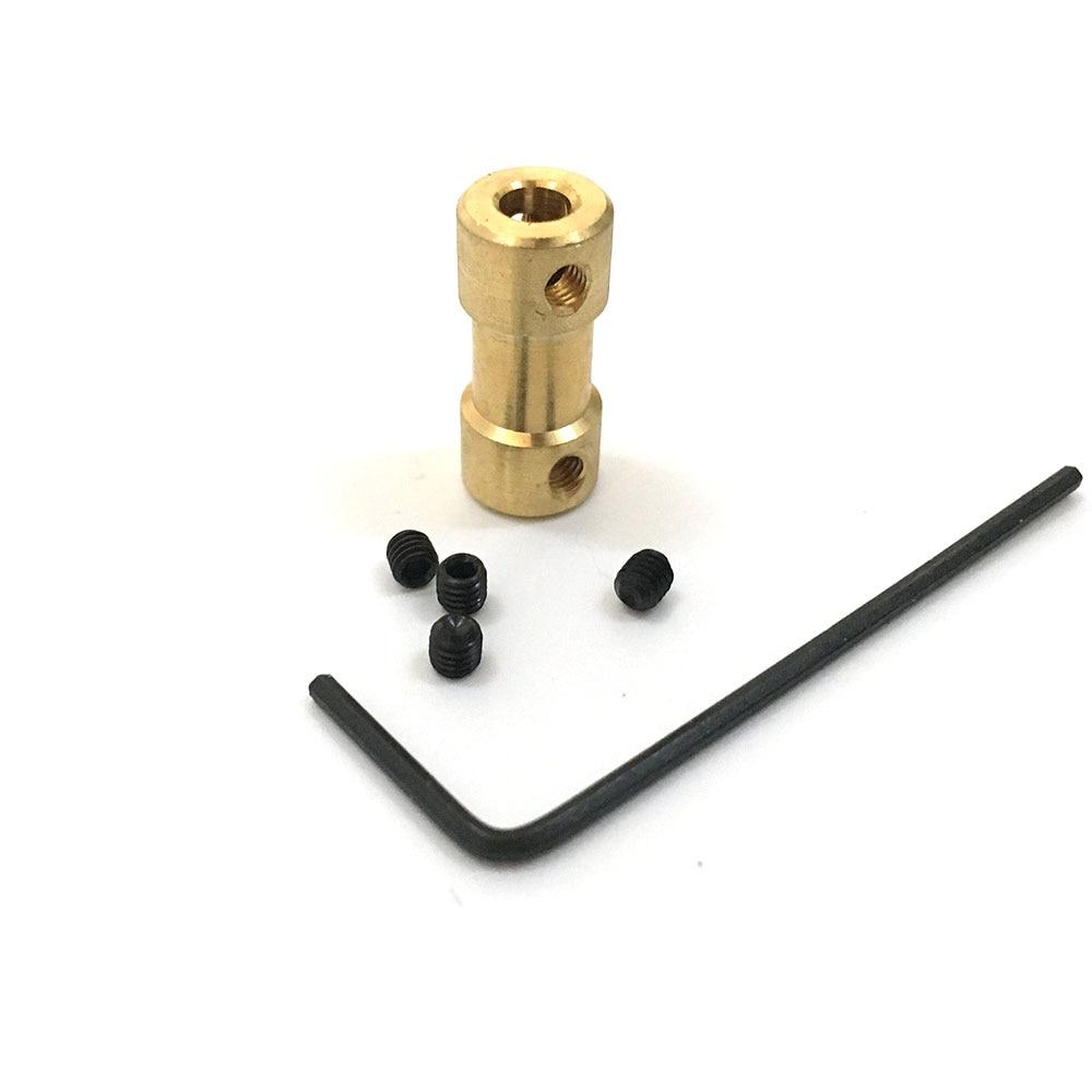 EBOWAN Brass Flexible Motor Shaft Coupling Coupler Motor Transmission Connector