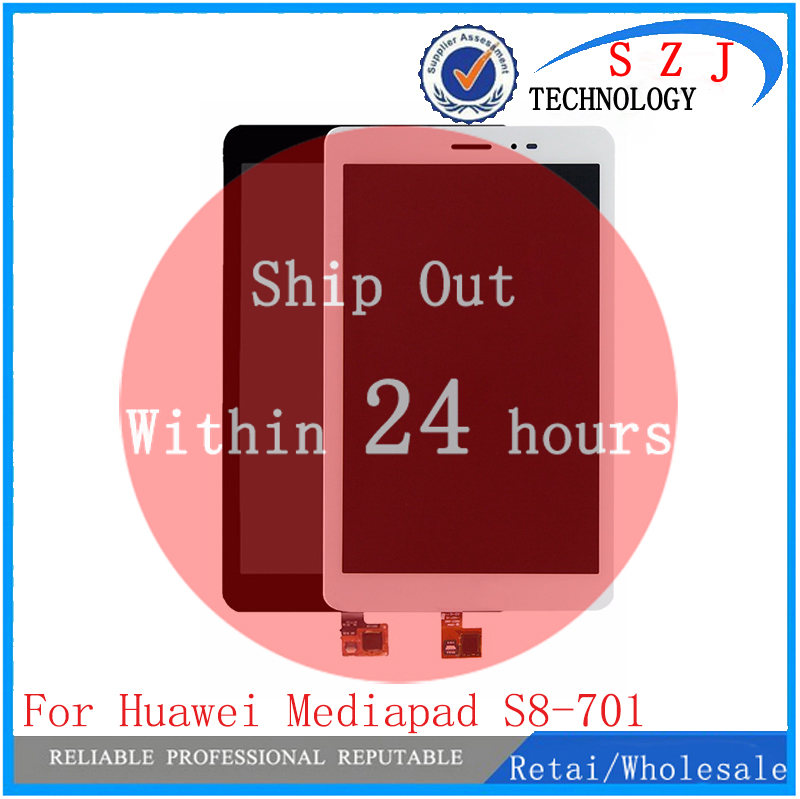 New 8'' For Huawei Mediapad T1 8.0 3G S8-701u Honor Pad T1 S8-701 Digitizer Touch Screen Sensor+LCD Display Panel Assembly 8 inch replacement parts for huawei mediapad t1 8 0 s8 701 lcd display touch screen digitizer sensor full assembly tablet pc