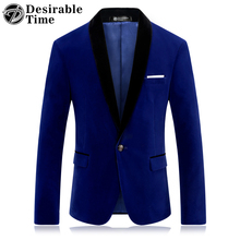 Royal Blue Prom Blazer for Men Fashion Brand Stage Clothing for Singers Slim Fit Mens Red Velvet Blazer Jacket DT042