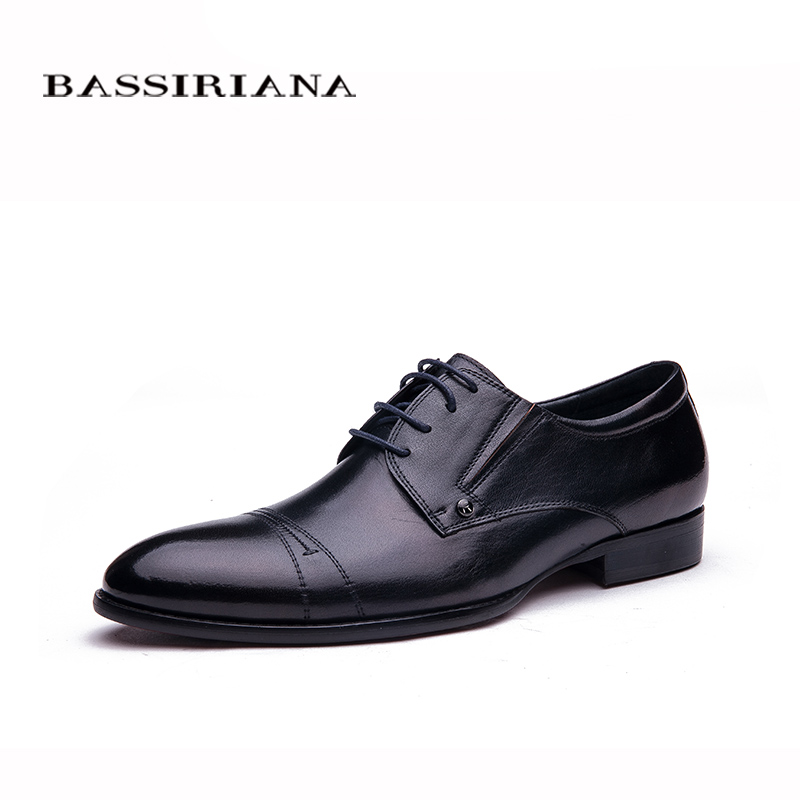 BASSIRIANA Fashion Style Soft Shoe font b Men b font Shoes High Quality Brand Genuine Leather