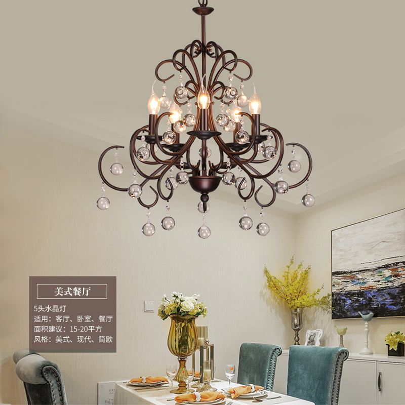 Nordic living room bedroom crystal chandelier industrial wind creative restaurant lamp bar iron lamp shop coffee shop Chandelier modern fashion simple iron industrial wind pentagonal star chandelier hall corridor living room bedroom chandelier page 5