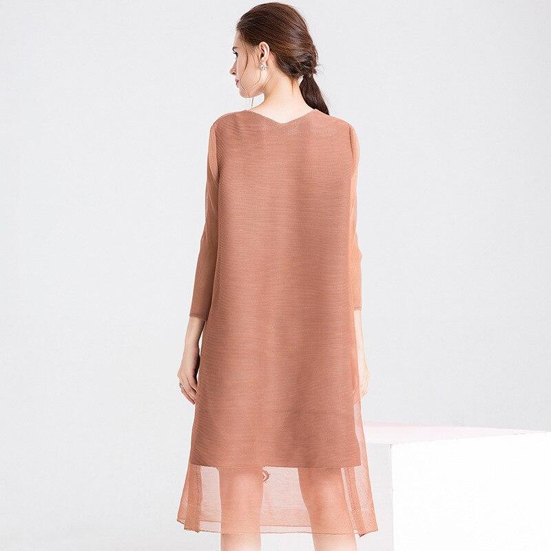 6c9c22d3af573a D une Robe Mode Pièce Gamme De Lady khaki Plissée Broderie red green Haut  Lâche Nouvelle Printemps Seule Femmes ...