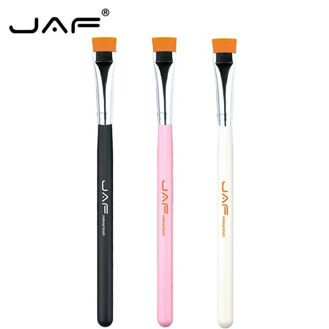 JAF 1 PCS Eye Makeup Brush Flat Eyeliner Eyebrow Blending Beauty Make Up Brush Soft Nylon Hair 3 Colors for Choose 07SHYE 1