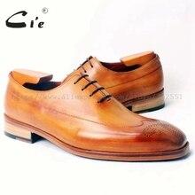 CIE на заказ, ручной работы на заказ Mackay патиной, со шнуровкой, из натуральной телячьей кожи; Для мужчин, женские модельные туфли-оксфорды коричневого цвета; No. OX338