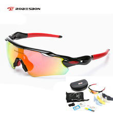 ROBESBON 5 lens Cycling Sunglasses Radar men women windproof sports polarized Eyewear mountain Bicycle Glass Oculos Ciclismo