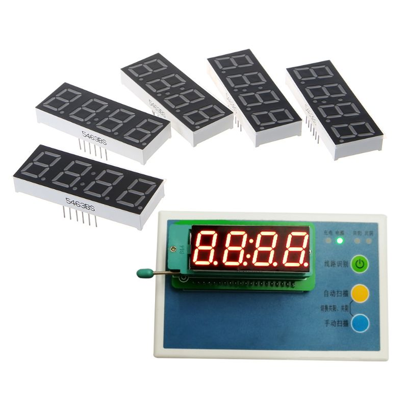 5PCS 0.56inch 4Digits Red Clock 7 Segment LED Display Diugital Tube 14Pin 5463AS 5463BS|Voltage Meters| |  - title=